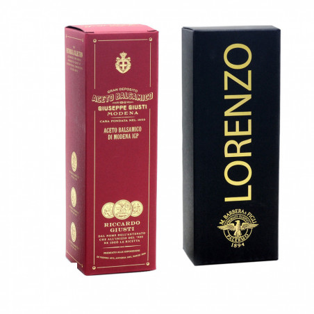 Set Giusti Barbera: Vinaigre Balsamique de Modena IGP 3 Médailles Or 250 ml et Huile d'Olive Extra Vierge Lorenzo n° 1 500 ml