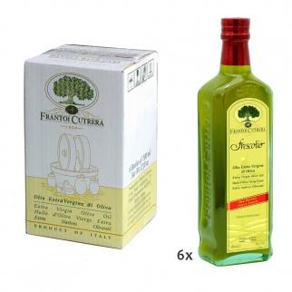 Doos met 6 Flessen Novello Extra Vergine Olijfolie Frescolio Cutrera 500 ml x 6
