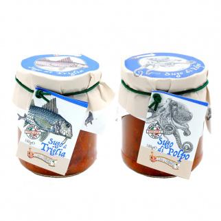 Deux Sauces de Poisson Lombardi: Rouget et Poulpe 180 gr x 2