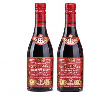"Balsamic Vinegar of Modena PGI 3 Gold Medals ""Riccardo Giusti"" Set 250 ml x 2"