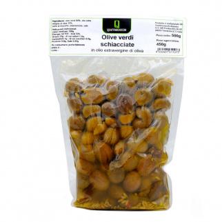 Crushed Green Olives in Extra Virgin olive Oil 500 gr
