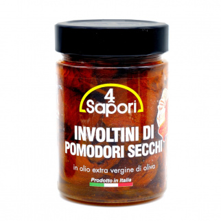 Involtini di Pomodori Secchi in Olio Extra Vergine di Oliva 320 gr