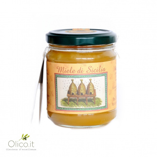 Almond Honey Sicilian Black bee 250 gr