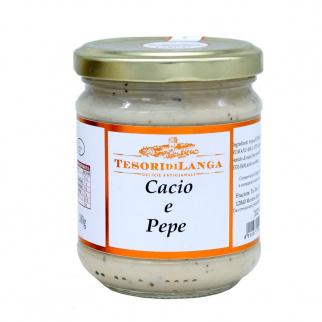 Sauce pour pâtes Cacio e Pepe 180 gr