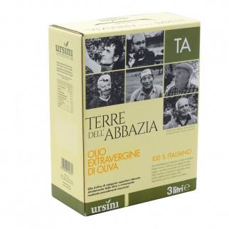Huile d'Olive Extra Vierge Terre dell'Abbazia 3  lt
