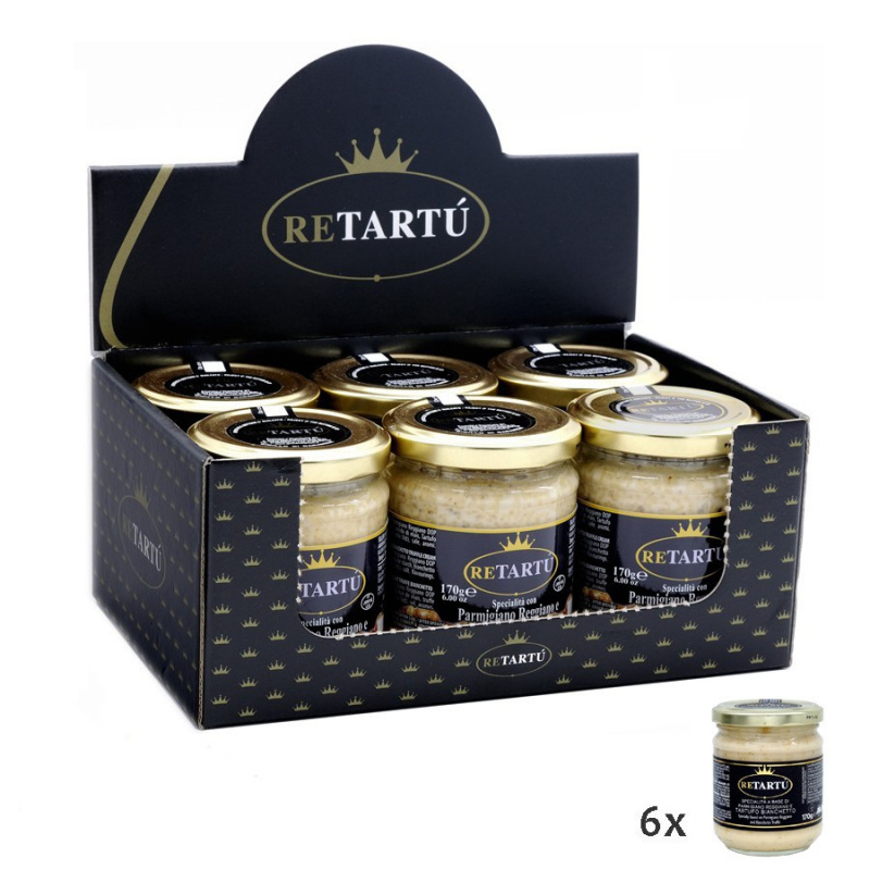 Salsa bianca con Parmigiano Reggiano DOP e Tartufo Bianchetto 170 gr x 6