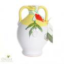 "Handmade Ceramic Jar ""Cincinnati"" with Extra Virgin Olive Oil"