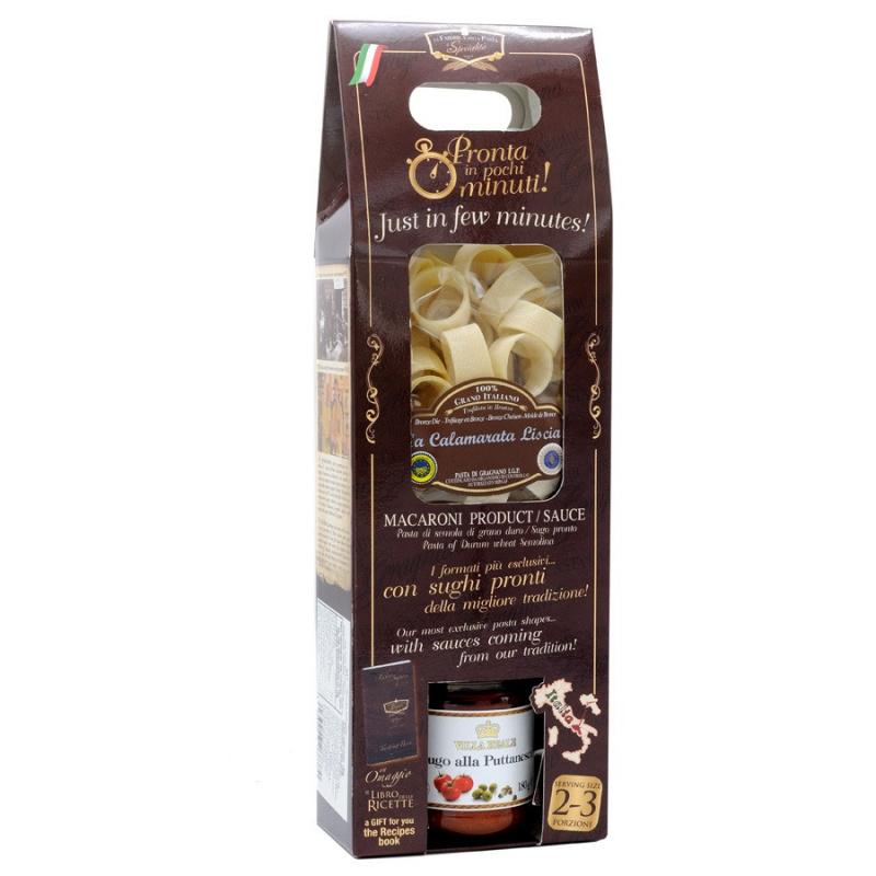 Pronta in Pochi Minuti Pacco Sorpresa con Pasta di Gragnano IGP 250 gr e sugo pronto 180 gr