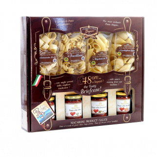 Tasty 48 Hours Gift Box with Pasta di Gragnano IGP 250 gr and ready to use sauces 180 gr