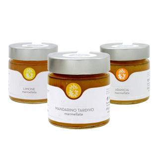Marmalades Set Lemon Orange and Tardivo Mandarin 250 gr x 3