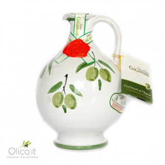 "Handmade Ceramic Jar ""Rita"" with Extra Virgin Olive Oil"