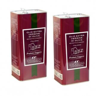 Huile d'Olive Extra Vierge Fruitée Délicate 5 lt x 2