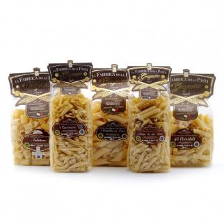 Everydaypack Pâtes de Gragnano IGP - Pennoni Penne Lisce Tubettoni Elicoidali Caserecce 500 gr x 5