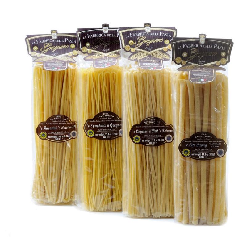 Set Pasta Lunga di Gragnano IGP - Bucatini, Linguine, Spaghetti, Ziti