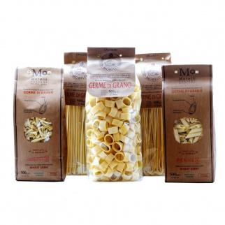 Set Pâtes au Germe de Blé:  Spaghetti, Linguine, Calamari, Penne, Strozzapreti 500 gr x 5