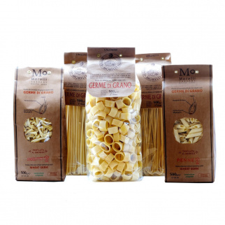 Set Weizenkeim Pasta:  Spaghetti, Linguine, Calamari, Penne, Strozzapreti 500 gr x 5