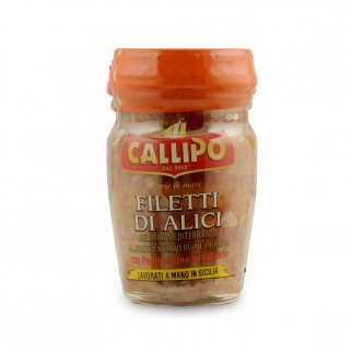 Filetti di Alici all'Olio Extravergine di Oliva e Peperoncino 75 gr