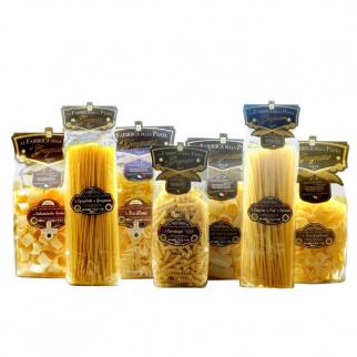 Multipack Pasta Gragnano IGP - Calamarata Paccheri Rigati Fusilloni Linguine Spaghetti Farfalloni Cavatappi 500gr x 7