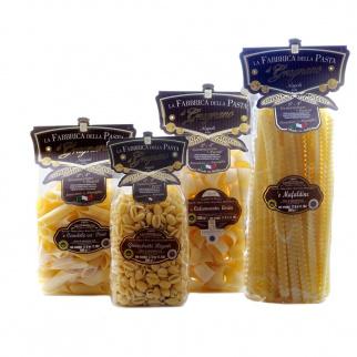 Minipack Pasta di Gragnano IGP - Calamarata, Pennoni, Mafaldine, Gnocchetti Rigati 500 gr x 4