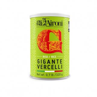 Riso Gigante Vercelli in latta 320 gr