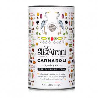 Italian Carnaroli Cru Rice Campo dell'Aia in tin 750 gr