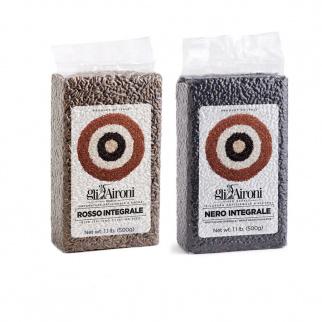 Whole Grain Rice Gli Aironi: Red and Black 500 gr x 2
