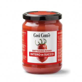 Tomates Datterino Rouges entières dans leur Jus 350 gr