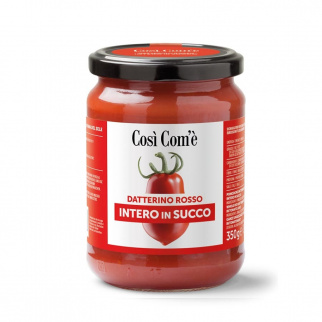 Whole Red Datterino tomatoes in juice 350 gr