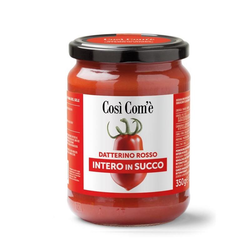 Pomodoro Datterino Rosso Intero in Succo 350 gr