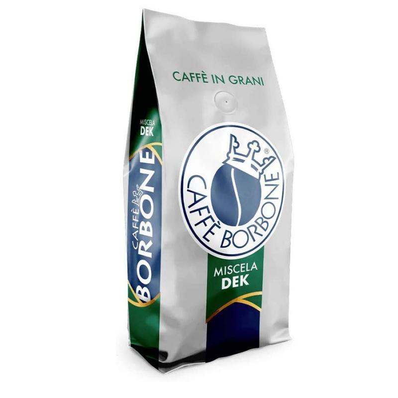 Caffè in grani Miscela VERDE/DEK Caffè Borbone 1 kg