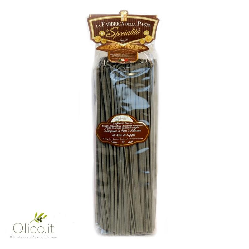 Linguine black squid ink pasta