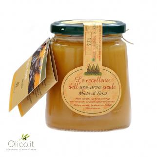 Tijmhoning van Siciliaanse Zwarte Bijen 400 gr