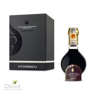 Traditionele 25 jaar gerijpte Balsamico Azijn uit Modena DOP  - 100 ml in Zwarte Luxeverpakking