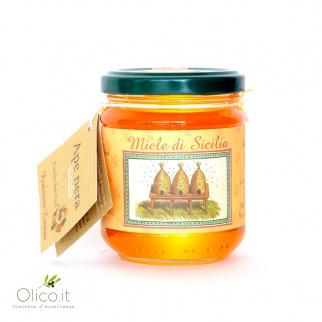 Honey from Ferula communis Black Sicilian Honey Bee 250 gr